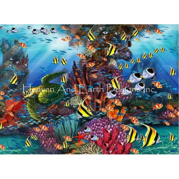 画像1: クロスステッチ図案Mini The Reef-HAED(Heaven and Earth Designs) (1)