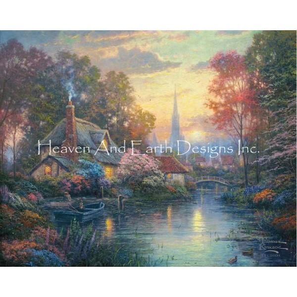 画像1: クロスステッチ図案   Nanette's Cottage-  HAED(Heaven and Earth Designs) (1)